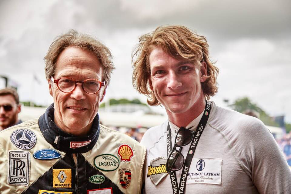 With the Duke of Richmond at the Goodwood Festival of Speed, where Freddie's racing career all began. Credit: Elliot Hobson Photography
